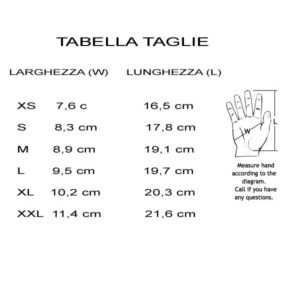 tabella taglie guanti